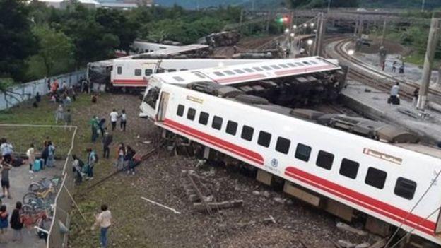 ताइवानमा रेल दुर्घटनाः १८ को मृत्यु, १७० घाइते