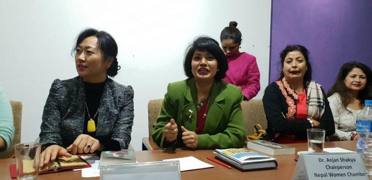 नेपालमा लगानी गर्न चिनियाँ महिला व्यवसायीलाई आग्रह