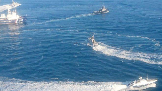 रुसद्वारा युक्रेनको तीनवटा नौसैनिक जहाज कब्जा