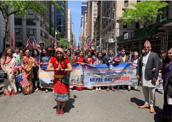 न्युयोर्कमा चौथो नेपाल डे परेड