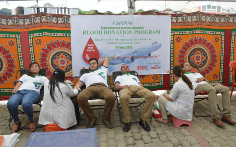सलाम एयरद्वारा रक्तदान कार्यक्रम